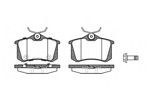 Тормозная система Гальмiвнi колодки, к-кт. PAGID арт. 226374