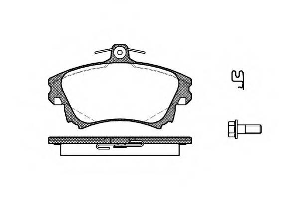 Тормозная система Гальмiвнi колодки, к-кт. PAGID арт. 270802