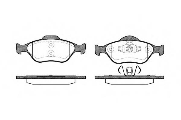 Тормозная система Гальмiвнi колодки, к-кт. PAGID арт. 276600