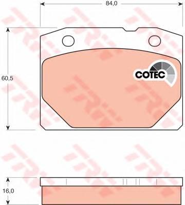 Тормозные колодки Тормозные колодки дисковые PAGID арт. GDB140