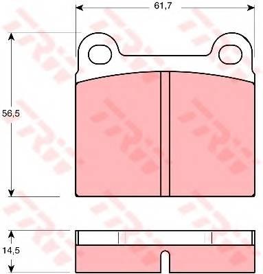 Тормозные колодки Тормозные колодки дисковые PAGID арт. GDB656