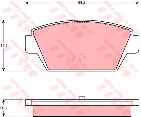 Тормозные колодки Тормозные колодки дисковые PAGID арт. GDB945