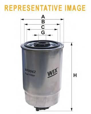 Фильтр топливный (PP 837) BOSCH арт. WF8042