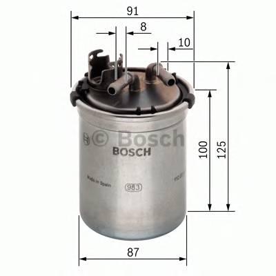 Топливные фильтры Топливный фильтр диз BOSCH арт. 0450906426