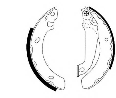 Тормозные колодки Тормозные колодки барабанные ABE арт. 91043800