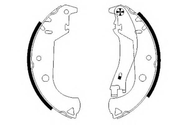 Тормозные колодки Тормозные колодки барабанные ABE арт. 91059900