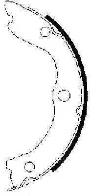 Тормозные колодки Тормозные колодки барабанные ABE арт. 91062700