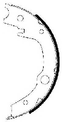 Тормозные колодки Тормозные колодки барабанные ABE арт. 91063200