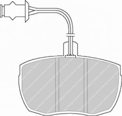 Тормозные колодки Тормозные колодки дисковые PAGID арт. FDB841