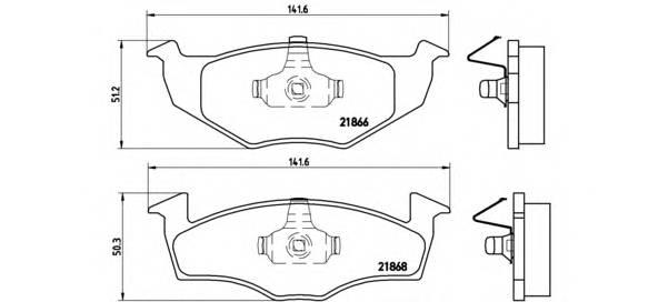 Тормозные колодки Тормозные колодки Brembo PAGID арт. P85025