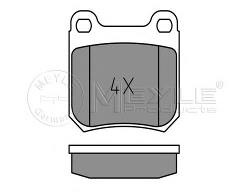 Тормозные колодки Тормозные колодки дисковые MEYLE арт. 0252105015