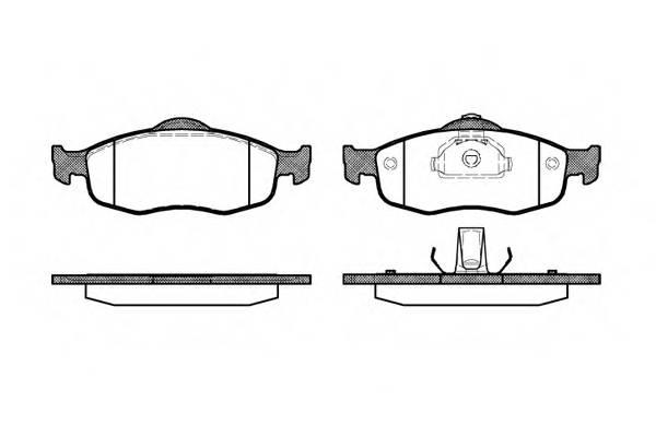 Тормозная система Гальмiвнi колодки, к-кт. PAGID арт. 243200