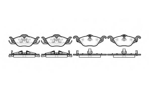 Тормозная система Гальмiвнi колодки, к-кт. PAGID арт. 268402