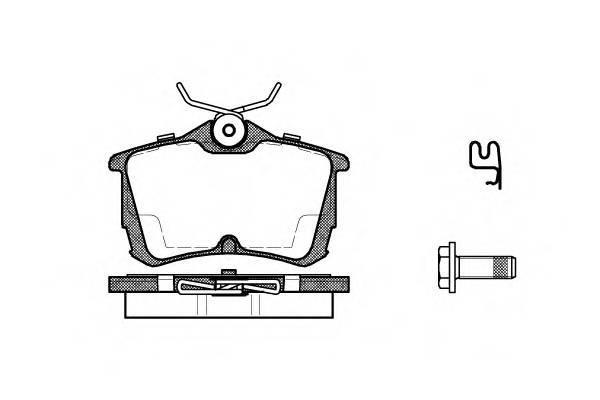 Тормозная система Гальмiвнi колодки, к-кт. PAGID арт. 269502