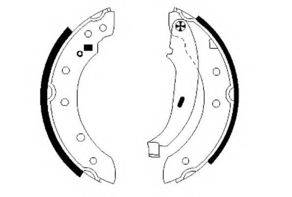 Тормозные колодки 203X38 Тормозные колодки PAGID арт. H8900