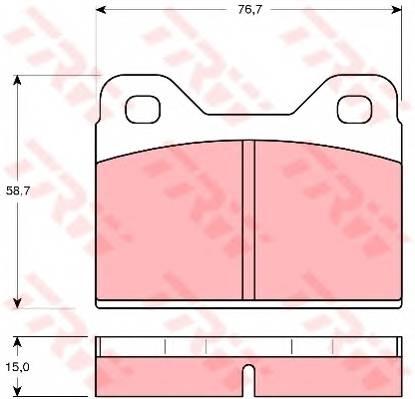 Тормозные колодки Тормозные колодки дисковые PAGID арт. GDB112