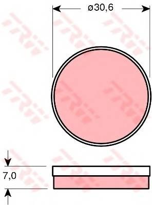Тормозные колодки Тормозные колодки дисковые TRW арт. GDB271