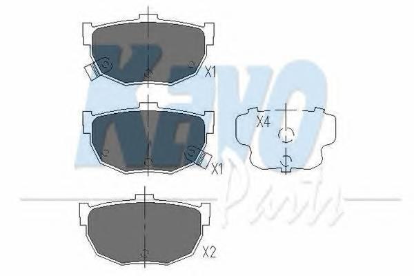 Тормозные колодки Тормозные колодки дисковые KAVOPARTS арт. KBP3007