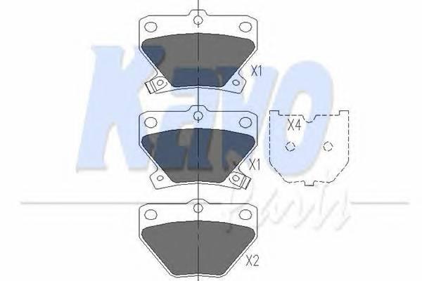 Тормозные колодки Тормозные колодки дисковые KAVOPARTS арт. KBP9013