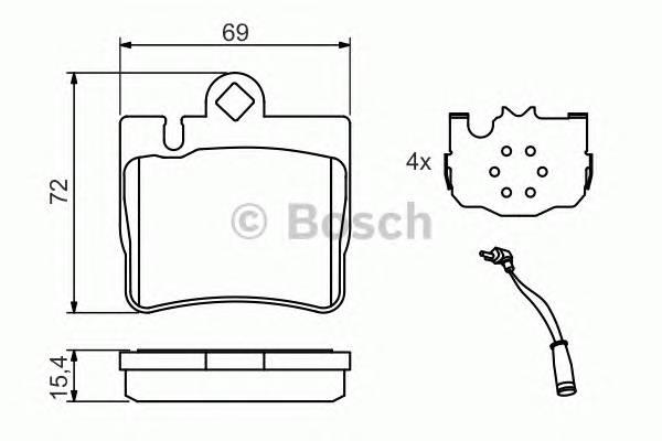 Тормозные колодки Тормозные колодки Bosch PAGID арт. 0986424830