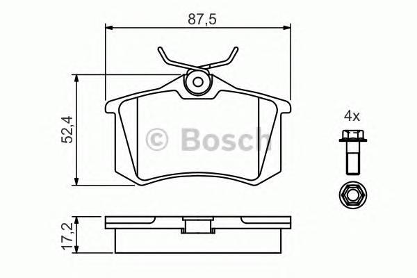 Тормозные колодки Тормозные колодки Bosch PAGID арт. 0986461769