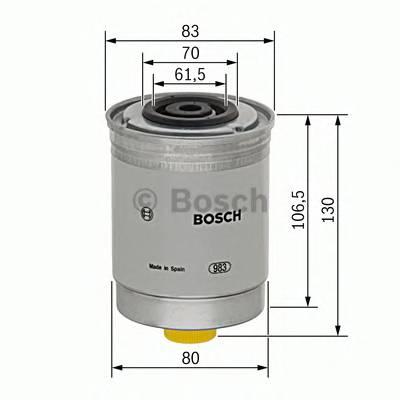 Топливные фильтры Топливный фильтр диз BOSCH арт. 1457434103