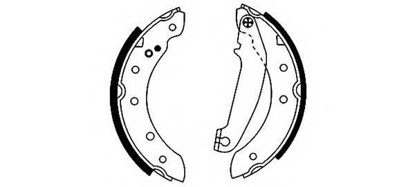 Тормозные колодки Тормозные колодки барабанные PAGID арт. 91046300