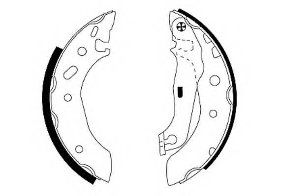 Тормозные колодки Тормозные колодки барабанные PAGID арт. 91048800