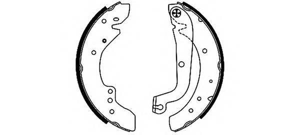 Тормозные колодки Тормозные колодки барабанные PAGID арт. 91049700