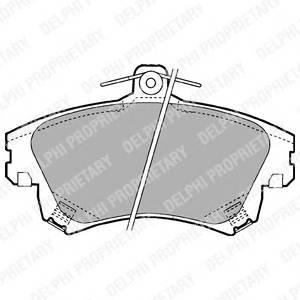 Гальмівні колодки, дискові ABE арт. LP1398