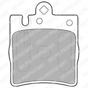 Гальмівні колодки, дискові PAGID арт. LP1618