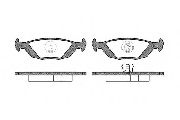 Тормозная система Гальмiвнi колодки, к-кт. PAGID арт. 215520