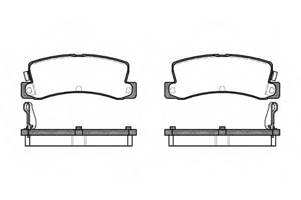 Тормозная система Гальмiвнi колодки, к-кт. PAGID арт. 221404