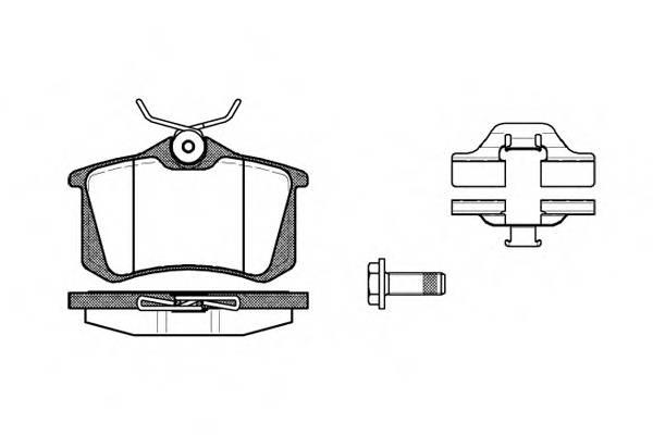 Тормозная система Гальмiвнi колодки, к-кт. PAGID арт. 226303