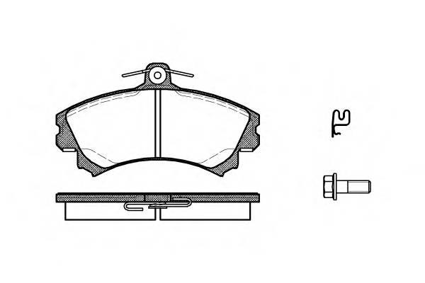 Тормозная система Гальмiвнi колодки, к-кт. PAGID арт. 259021