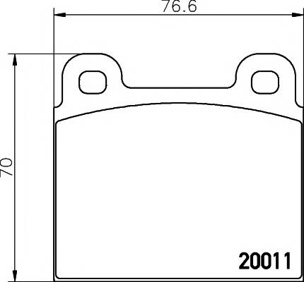 Тормозные колодки 20011/19,0мм Тормозные колодки PAGID PAGID арт. T4116