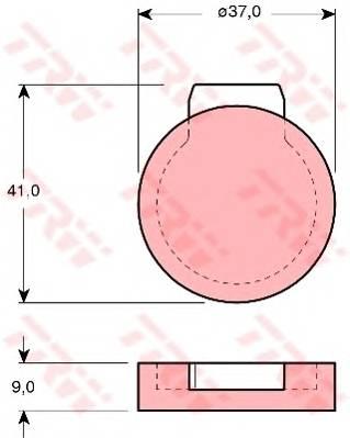 Тормозные колодки Тормозные колодки дисковые TRW арт. GDB272