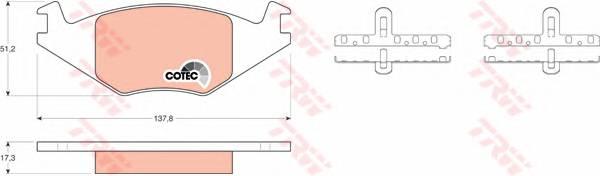 Тормозные колодки Тормозные колодки дисковые PAGID арт. GDB463