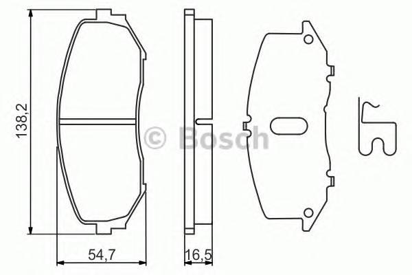 Тормозные колодки Тормозные колодки Bosch ABE арт. 0986494241