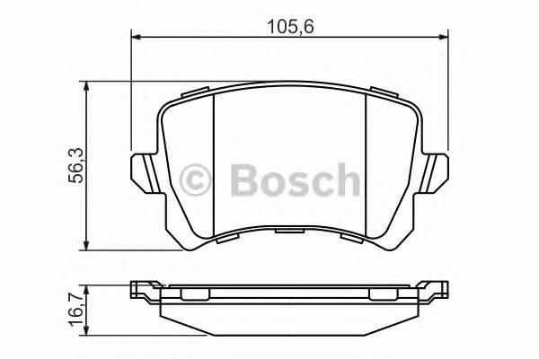 Тормозные колодки Тормозные колодки Bosch PAGID арт. 0986494344