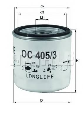 Масляные фильтры Фільтр масляний KNECHT арт. OC4053
