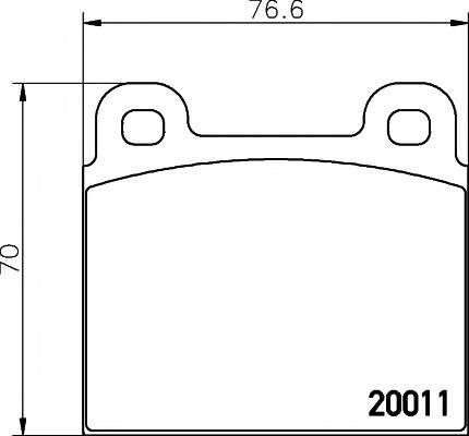 Тормозные колодки Тормозные колодки дисковые PAGID арт. 2001104