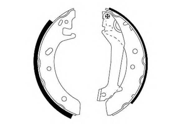 Тормозные колодки Тормозные колодки барабанные PAGID арт. 91046600