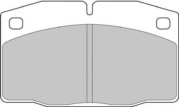 Тормозные колодки Тормозные колодки Ferodo PAGID арт. FDB375