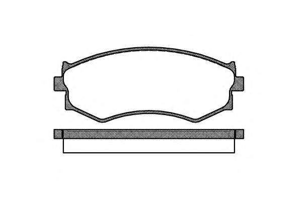 Тормозная система Гальмiвнi колодки, к-кт. ABE арт. 228700