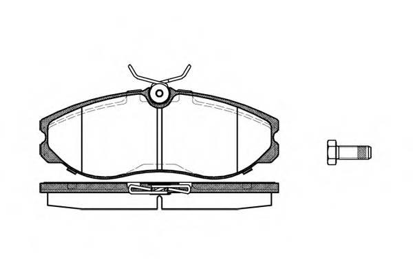 Тормозная система Гальмiвнi колодки, к-кт. PAGID арт. 246200