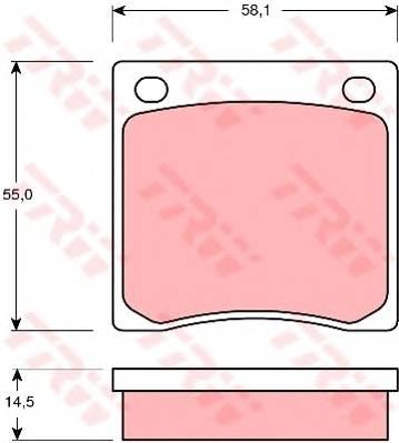 Тормозные колодки Тормозные колодки дисковые TRW арт. GDB126