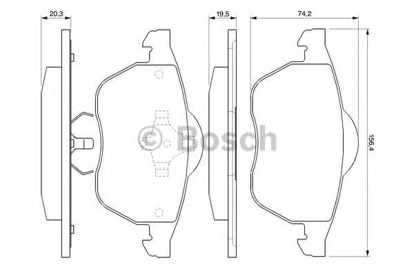 Тормозные колодки Тормозные колодки Bosch PAGID арт. 0986424460