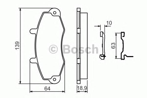 Тормозные колодки Тормозные колодки дисковые передние FORD PAGID арт. 0986494292