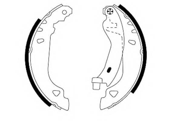 Тормозные колодки Тормозные колодки барабанные PAGID арт. 91049100